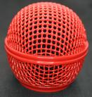 Shure SM58 Mic Grille in Coca Cola Red