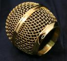 Gold Plated Microphone Grille