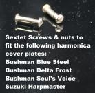 Bushman Delta Frost Sextet Cover Plate Screws - Bag of 6