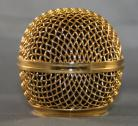 24kt Gold Plated Shure SM-58 Microphone Grille