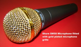 Shure SM58 Microphone with Gold Plated Grille