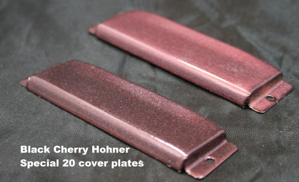 Hohner Special 20 Cover Plate Set In Black Cherry Powder Coat Rw
